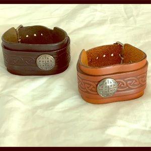 Celtic Knot • Unisex Bracelets • Black Brown